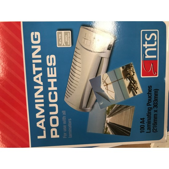 A4 150 micron gloss lamination pouches Office Products