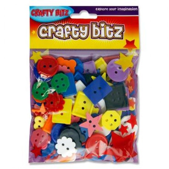 PLASTIC BUTTONS - ASST SIZES & SHAPES Arts & Crafts