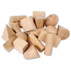 LER4298 Wooden Geometric Solids