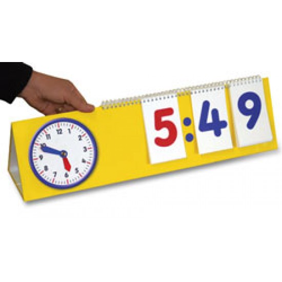 M45 12 & 24 Hour Flip chart  clock Classroom Resources