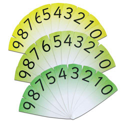 Number Fans (0-9 with decimal)