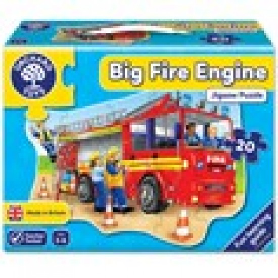 Big Fire Engine Jigsaw Puzzle Classroom Resources