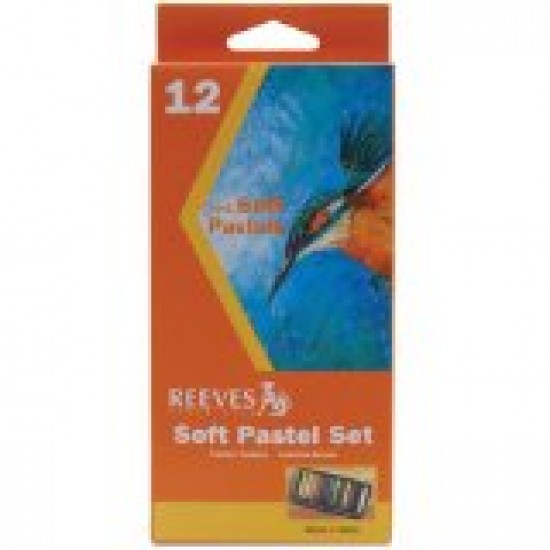 Chalk/Soft pastels mixed colours box 12 Arts & Crafts