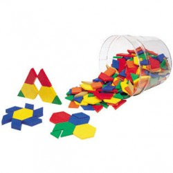 LER0344 1cm Wooden Pattern Blocks