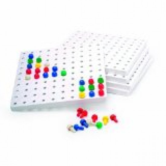 Pegboard & Pegs (Set include 5 pegboards & 1000 pegs) Classroom Resources