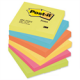 75 x 75mm Fluorescent post it pack 12