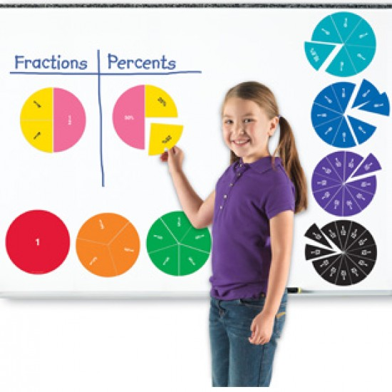 LER1616 Double-Sided Magnetic Fraction Circles Classroom Resources