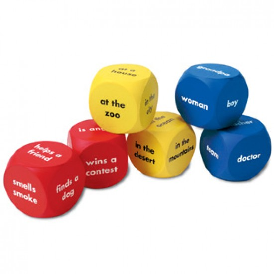 LER7020 Story Starter Word Cubes Classroom Resources