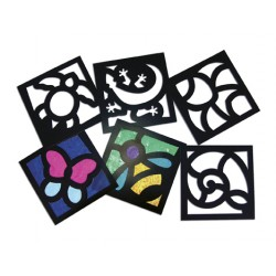 R-52074 Junior stained glass frames pack 24