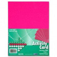 A4 Bright Pink/Cyber red card pack 50 sheets