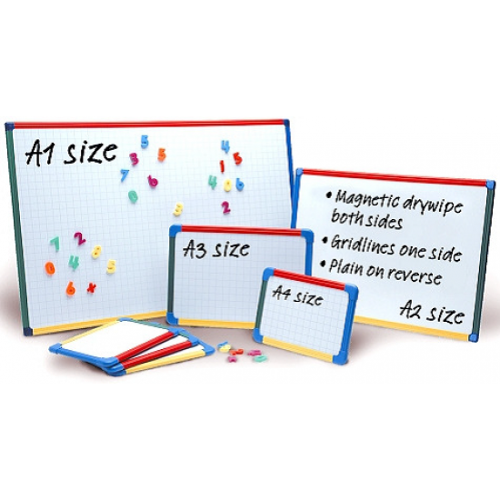 A3 Show-me Magnetic Framed Whiteboards Classroom Resources