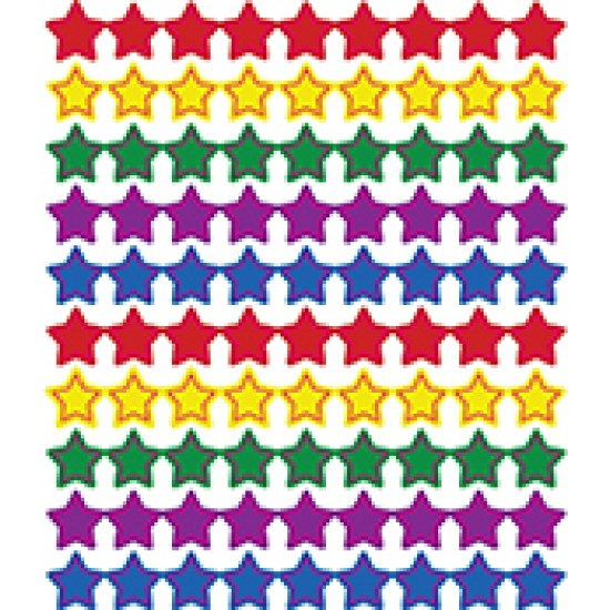 Assorted colour stars stickers