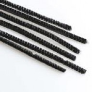 "12"" black pipe cleaners pack 100"