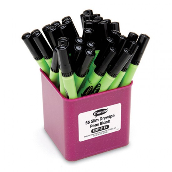 Show-me Black whiteboard pens tub 36 Office Products