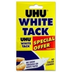 UHU white tac pack 6