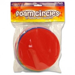 Crafty Bitz Pkt.20 Foam Sheets - Circles