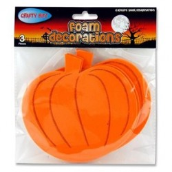 Crafty Bitz Pkt.3 Foam Decorations - Pumpkins