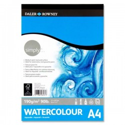 Daler Rowney Simply...a4 190gsm Watercolour Pad 12 Sheets pack 6